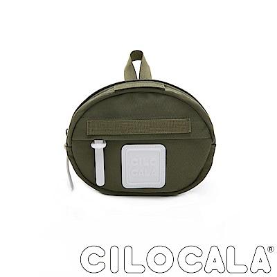 CILOCALA 亮彩尼龍防潑水MINI TAMAGO側背包(小)  橄欖綠色