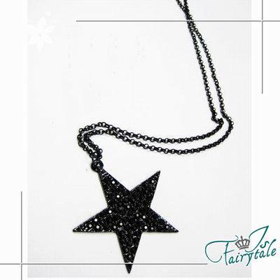 iSFairytale伊飾童話 黑星壓紋 特殊造型長鍊