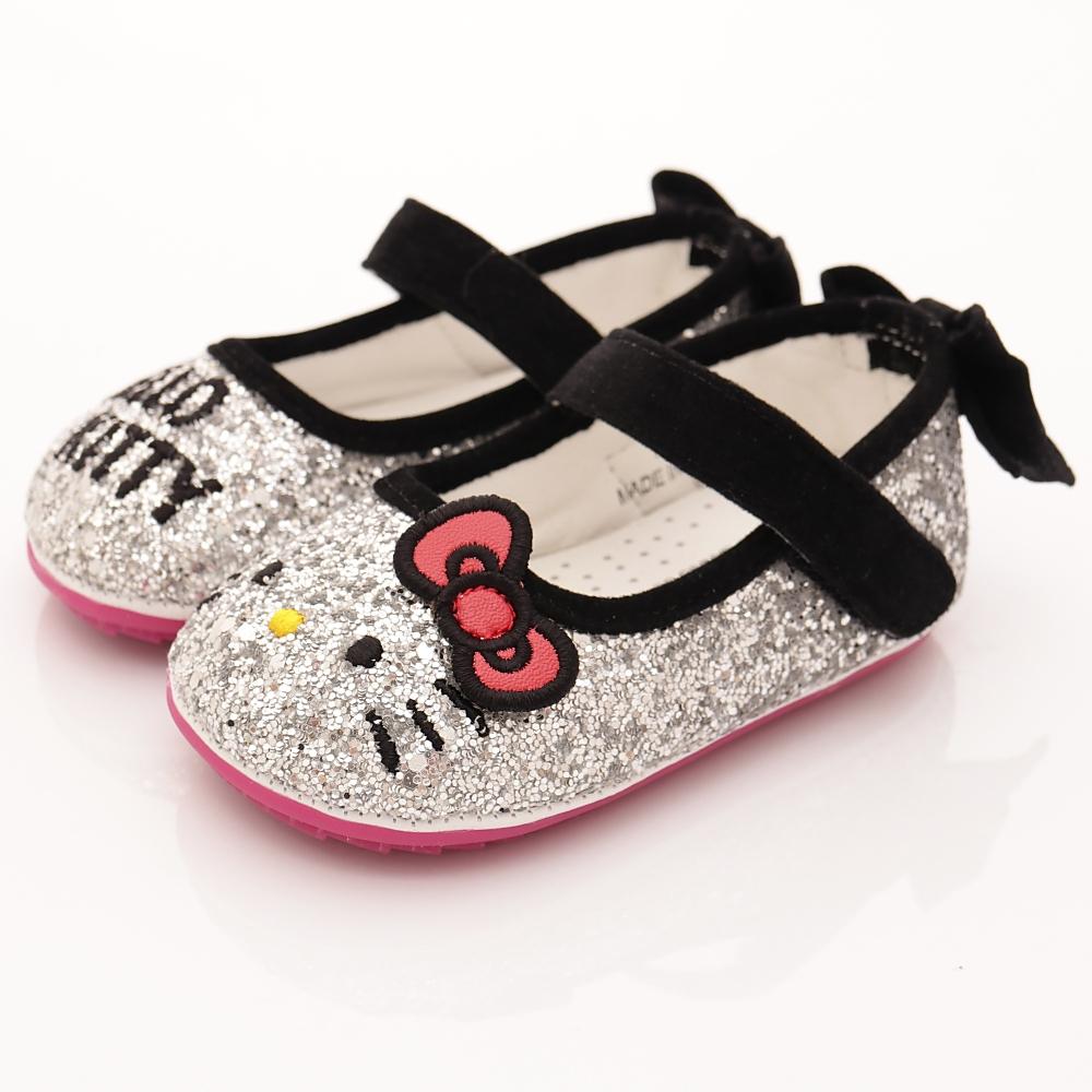 HelloKitty童鞋-亮片娃娃鞋-17501銀(寶寶段)HN
