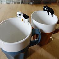 日本decole concombre貓咪陶瓷馬克杯