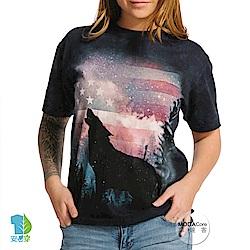 摩達客 美國進口The Mountain 愛國狼嚎 純棉環保短袖T恤
