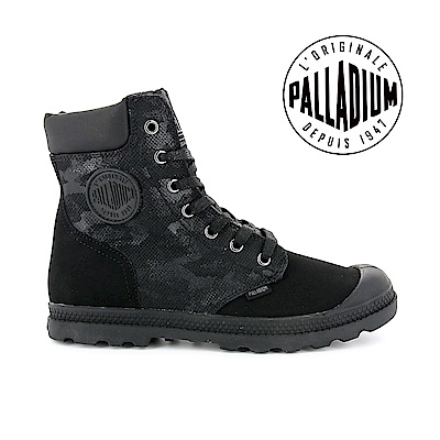 Palladium Pampa Hi knit LP Camo-女-黑