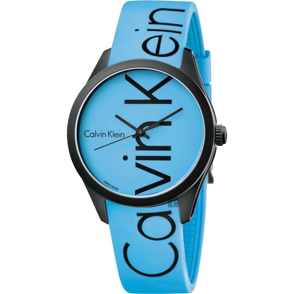 Calvin Klein CK Color 時尚運動手錶-藍/40mm K5E51TVN