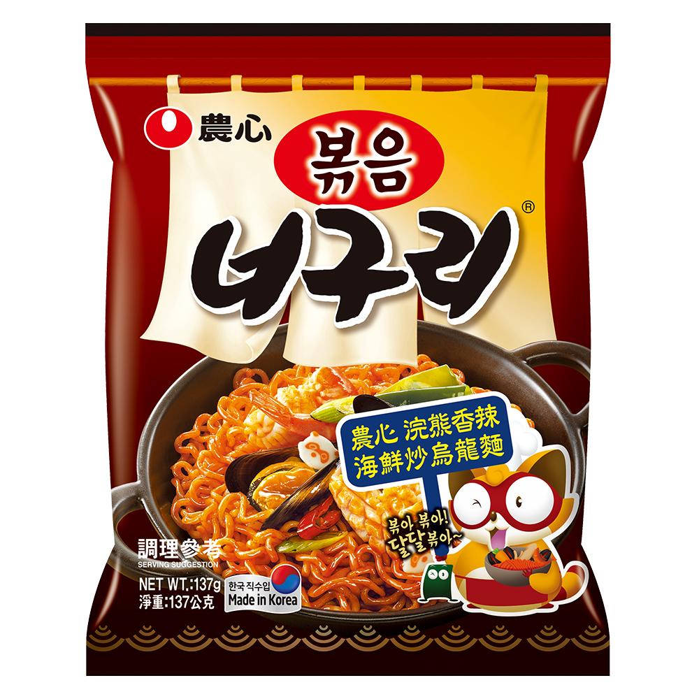 農心 浣熊香辣海鮮炒烏龍麵(137g)