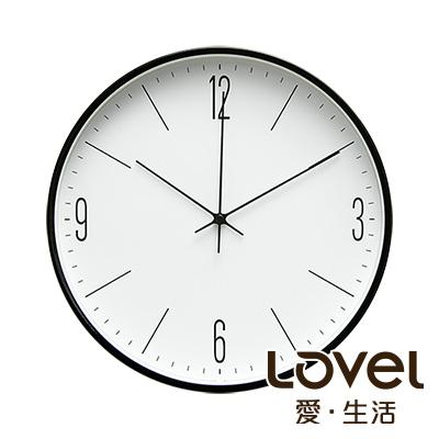 LOVEL 25cm 工業風金屬框靜音時鐘-共6款