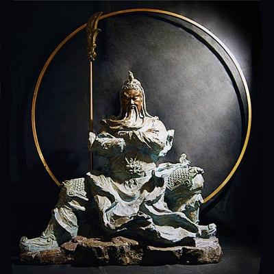 林韋龍 限量原作銅雕~王者風範 (關公)