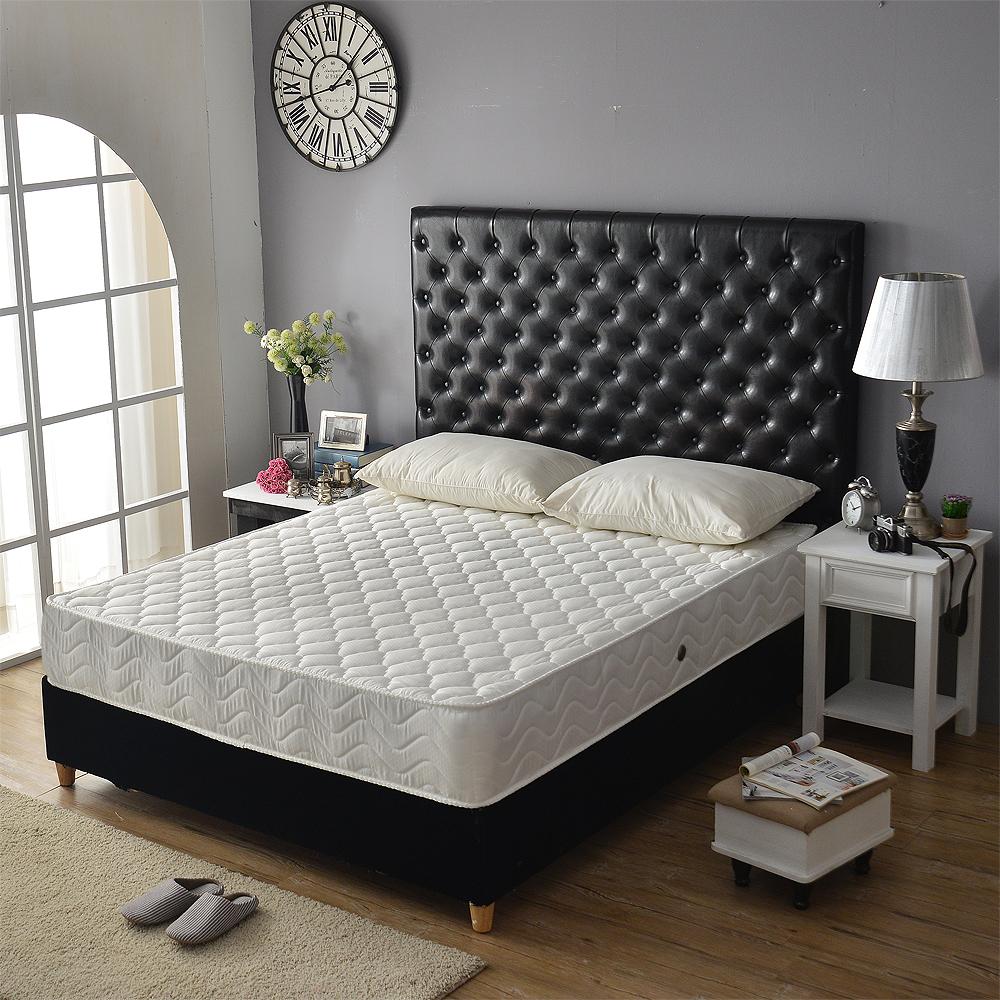 Ally愛麗星級舒柔加厚抗菌防潑水獨立筒床墊 雙人加大6尺