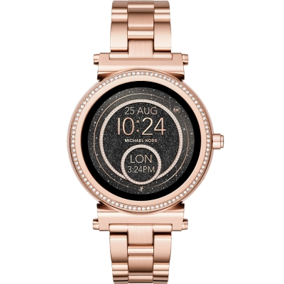 MICHAEL KORSSmartwatch智慧型觸控連線晶鑽手錶-玫瑰金/42mm