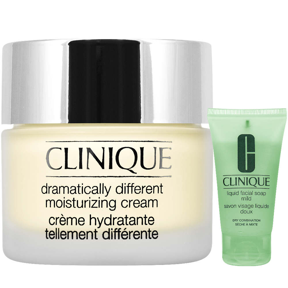 CLINIQUE 倩碧 三步驟還原潤膚霜(50ml)+三步驟洗面膠(溫和型)(30ml)