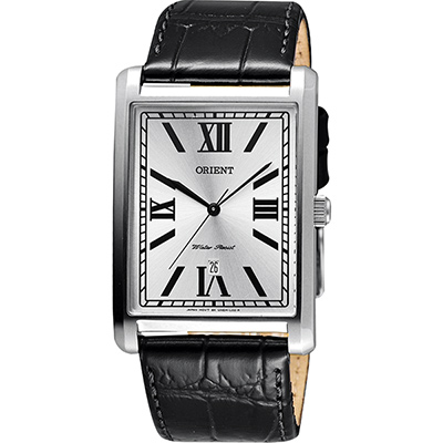 ORIENT 東方錶 羅馬雅仕簡約石英腕錶-銀x黑/32mm