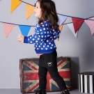 Disney 米妮系列亮麗彈力假二件褲裙 (共2色)