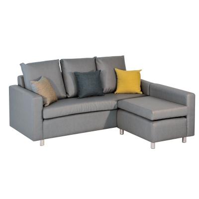品家居 派德皮革L型沙發(三人+凳)-180x164x95cm-免組