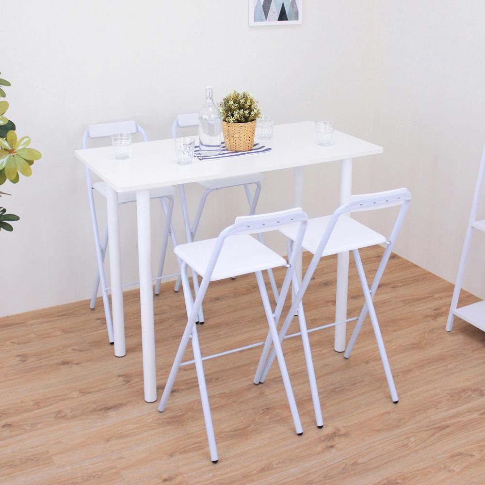 頂堅 高腳桌椅組/吧台桌椅組/洽談桌椅組-高98cm-二色 product image 1