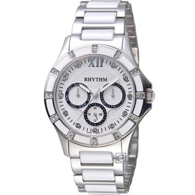 麗聲錶 RHYTHM 優雅甜美陶瓷錶(F1201T01)白/38mm