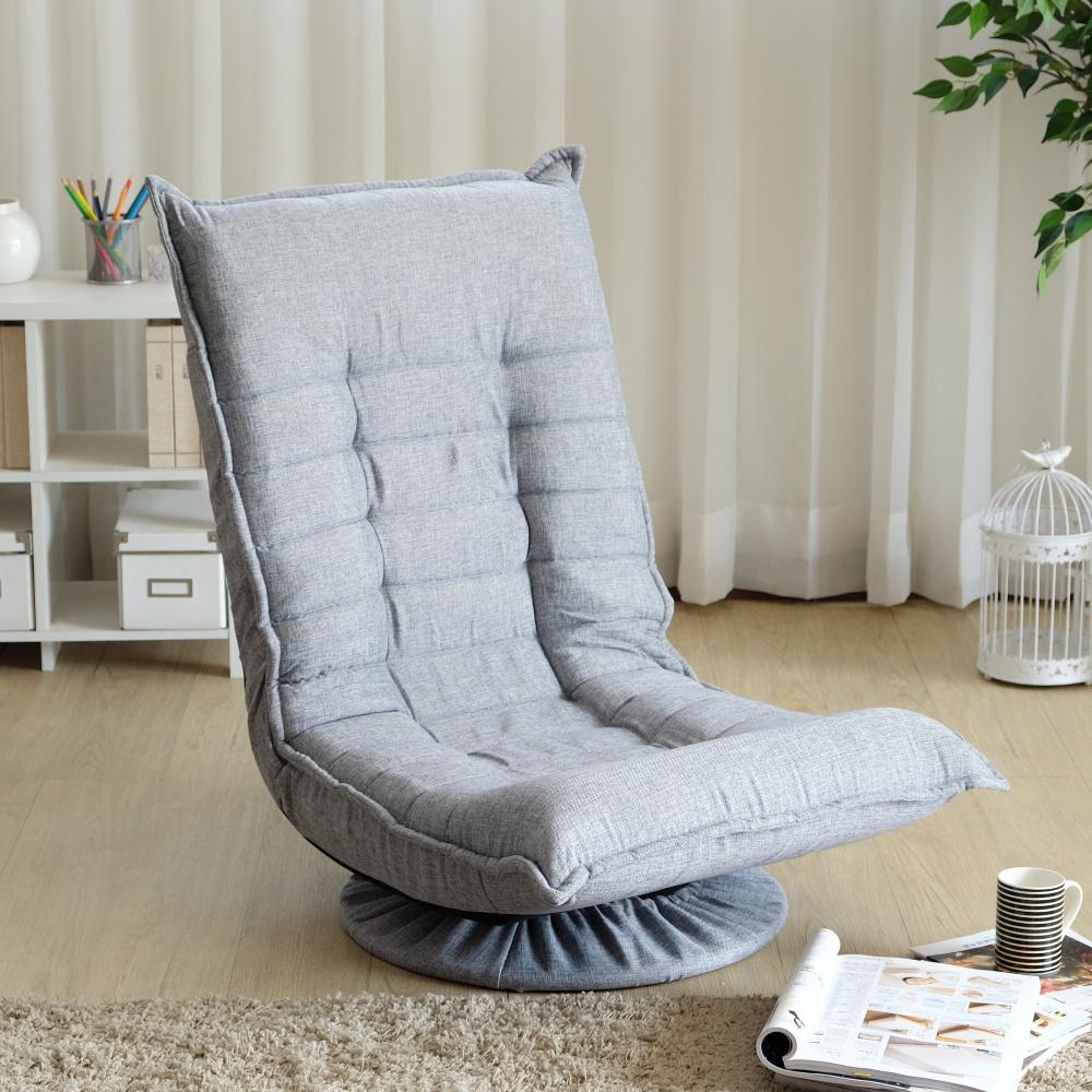EASY HOME 360度旋轉多段和室椅-淺灰色 (58x63x91cm)