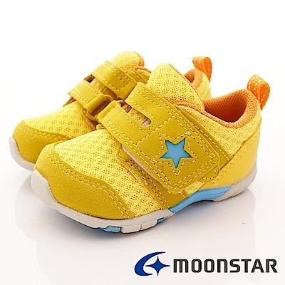 日本Carrot機能童鞋 抗菌2E箱型後套款 BEI88黃(寶寶段)