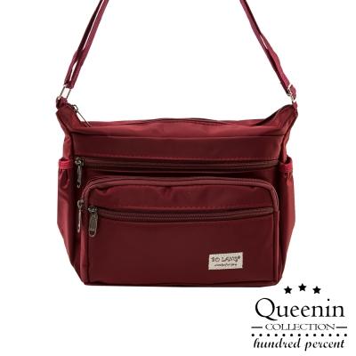 DF Queenin - 日系休閒尼龍斜側背包-共4色