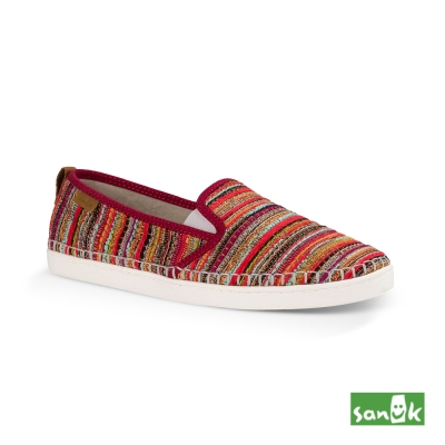 SANUK Valdese Weavers設計編織休閒鞋-女款(紅色)