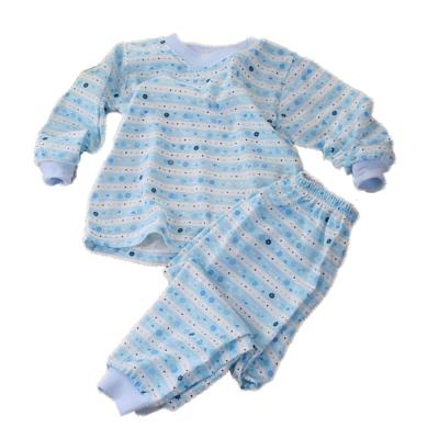 薄長袖居家套裝-花樣條紋(藍)  k60104