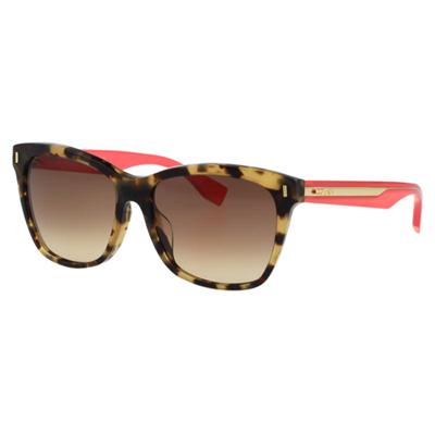 FENDI 時尚造型太陽眼鏡 (琥珀色)FF0086FS