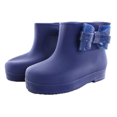 時尚設計短筒雨鞋/靴 藍 sh9874