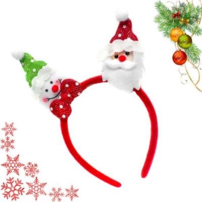 耶誕派對 紅綠雪人與聖誕老公公聖誕髮箍