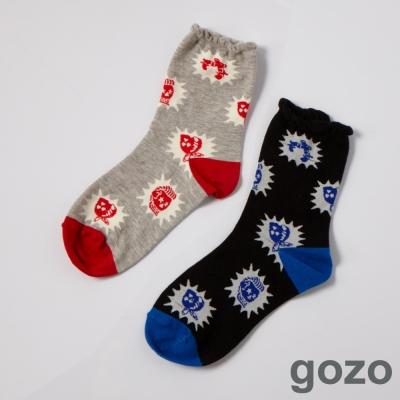 gozo 搖滾樂手玩趣撞色短襪 (二色)