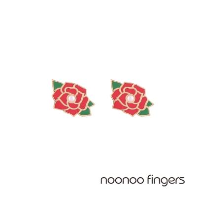 Noonoo Fingers Lavian Rose 凡爾賽玫瑰珍珠耳環