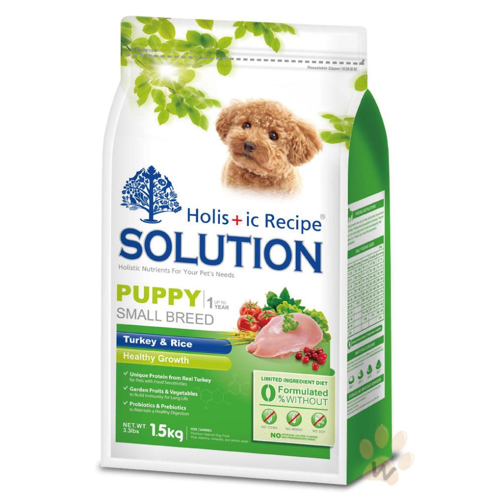 SOLUTION耐吉斯寵物食譜-幼犬 鮮火雞肉+田園蔬果1.5kg