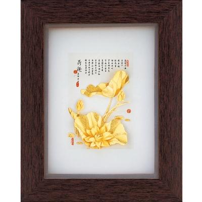 開運陶源  純金古香系列【好運連連】金箔畫