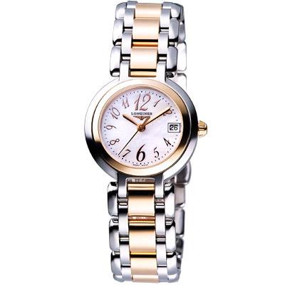 LONGINES PrimaLuna 新月水舞18K腕錶-玫瑰金/26.5mm