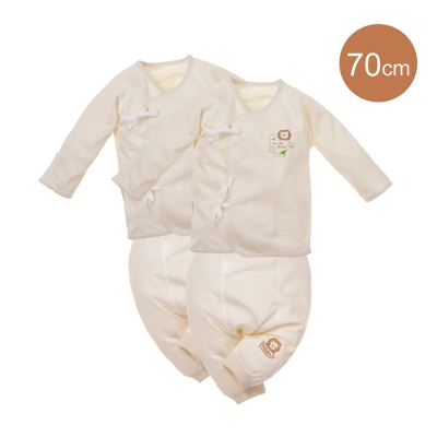 小獅王辛巴-大地系有機棉反袖肚衣套裝二件組-較大-秋冬款