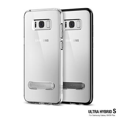 Spigen Galaxy S8 + Ultra Hybrid S-立架邊框透明...