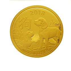 澳洲皇家生肖紀念幣-2018狗年生肖金幣(1/4盎司)