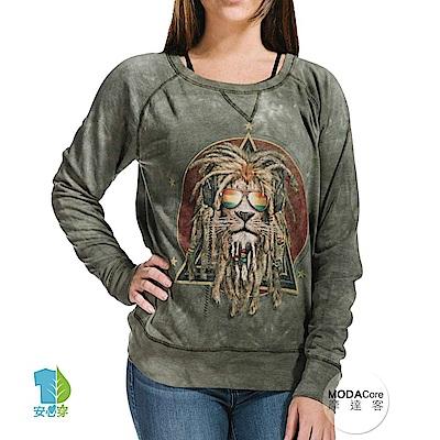 摩達客 美國The Mountain 復刻加滿獅 女版休閒長袖T恤