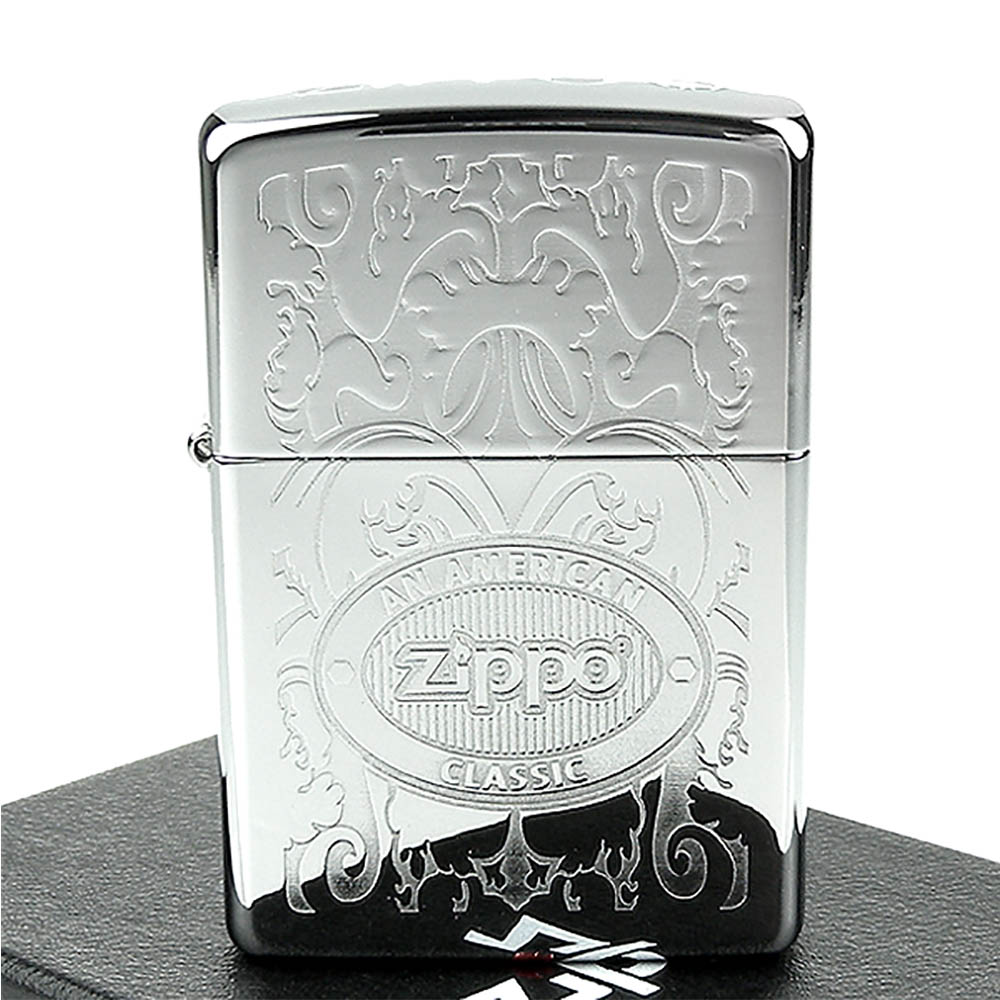 ZIPPO美系-Double Lustre加工-頂部Logo打印打火機