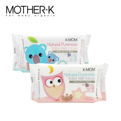 韓國MOTHER-K純淨自然幼兒濕紙巾(100抽/包)-基本款(包裝隨機出貨)