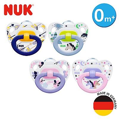 NUK印花矽膠安撫奶嘴-初生型0m+2入(顏色隨機出貨)(顏色隨機出貨)
