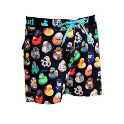 WAXX 黃色玩具小鴨限量款高質感吸濕排汗男性海灘短褲