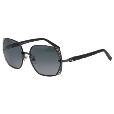 SWAROVSKI太陽眼鏡-水鑽-方框-黑色-SW33-13B
