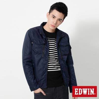 EDWIN-簡約立領防寒外套-男-丈青