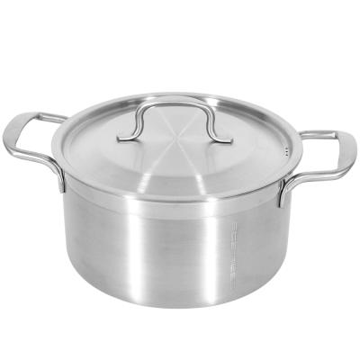 Stainless 原素304不鏽鋼厚重鑄鋼鍋/調理鍋/湯鍋22cm