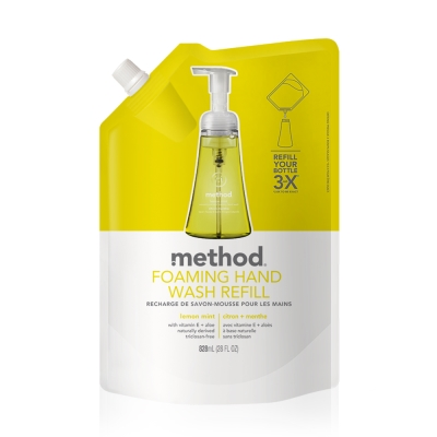 Method 美則 萊姆薄荷天然泡沫洗手露(補充包) 828ml