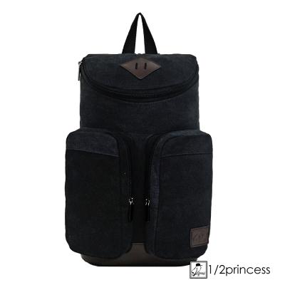 後背包1/2princess水洗帆布雙口袋二用胸包 斜背包 5色 [A2682]