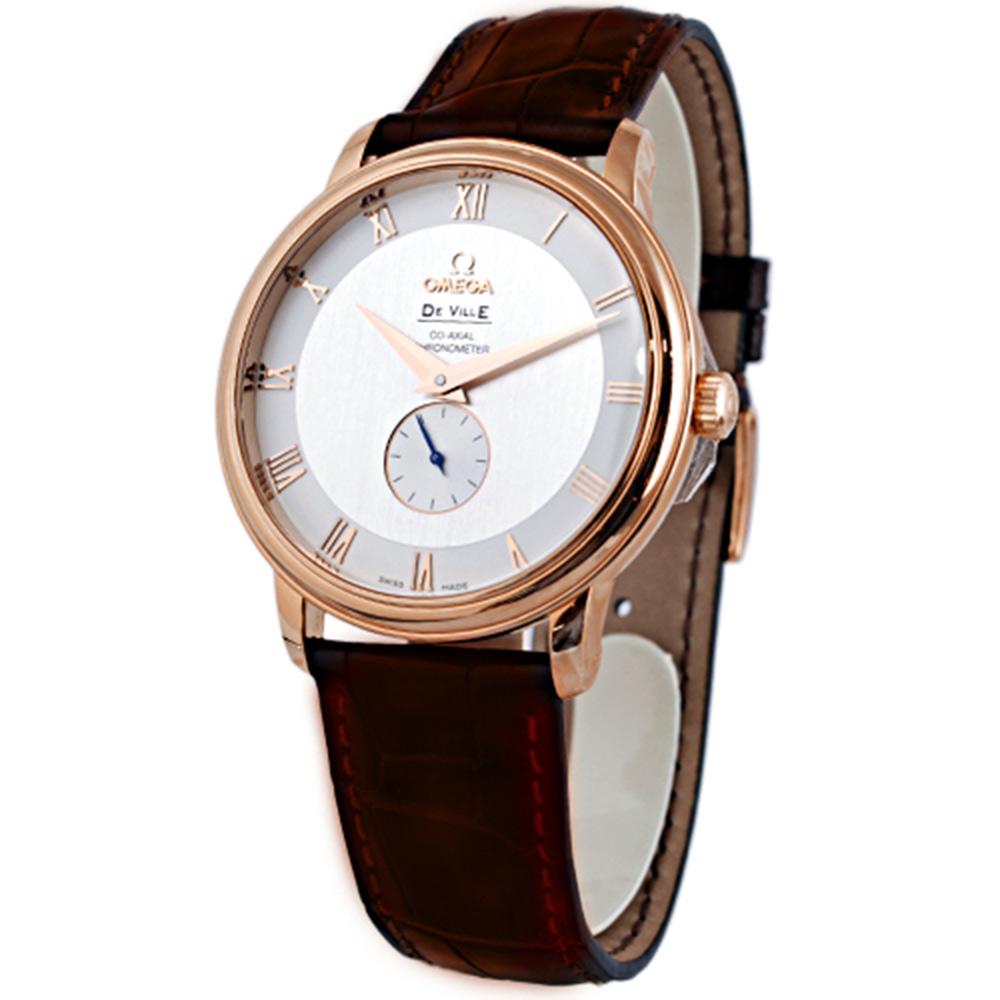 OMEGA 歐米茄 De Ville Co-Axial 經典玫瑰金腕錶-白/39mm