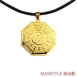 Manstyle 平安八卦黃金墜 (約3錢)