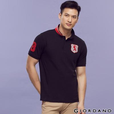 GIORDANO-男裝勝利獅王盾牌POLO衫-03