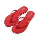 Rainbow Sandals美國金屬感夾腳休閒拖鞋-紅色