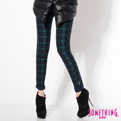 SOMETHING-繁花色系-LADIVA-印花合身窄直筒褲-女款-藍綠