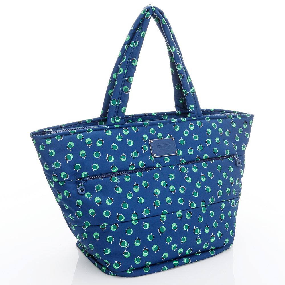 VOVAROVA空氣包-雙口袋手提托特包-我的小蘋果(青森綠)-法國設計系列